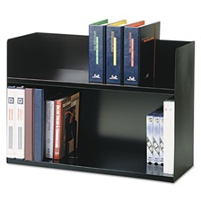 SteelMaster® Two-Tier Book Rack, Steel, 29 1/8 x 10 5/16 x 20, Black