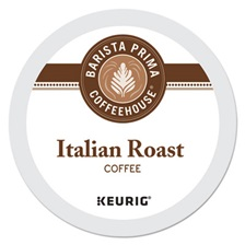 Barista Prima Coffeehouse® Italian Roast K-Cups Coffee Pack, 24/Box, 4 Box/Carton