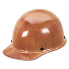 MSA Skullgard Protective Hard Hats, Pin-Lock Suspension, Size 6 1/2 - 8, Natural Tan
