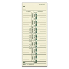 TOPS™ Time Card for Acroprint/IBM/Lathem/Simplex, Weekly, 3 1/2 x 9, 100/Pack