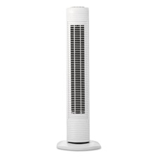 "Holmes® Oscillating Tower Fan, Three-Speed, White, 5 9/10""W x 31""H"