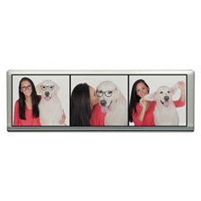 Advantus Acrylic Photo Frames, Clear, 2 x 6 1/4
