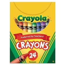 Crayola® Classic Color Crayons, Tuck Box, 24 Colors