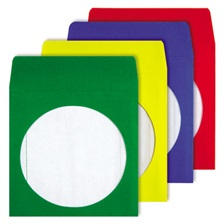 Quality Park™ Colored CD/DVD Paper Sleeves, Assorted Colors, 50/Box