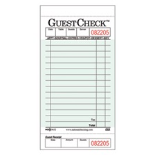 National Checking Company™ Guest Check Pad with Customer Receipt Stub, 3 1/2 x 6 3/4, 50 Checks/Pad