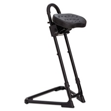 Alera Plus™ SS Series Sit/Stand Adjustable Stool, Black