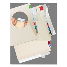 Tabbies® Self-Adhesive Label/File Folder Protector, Strip, 2 x 11, Clear, 100/Pack