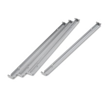 "Alera® Two Row Hangrails for 30"" or 36"" Files, Aluminum, 4/Pack"