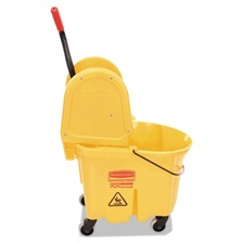 Rubbermaid® Commercial Wavebrake 35 Quart Bucket/Wringer Combinations, Yellow