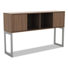 Alera® Alera Open Office Desk Series Hutch, 60w x 15d x 36 1/2h, Modern Walnut