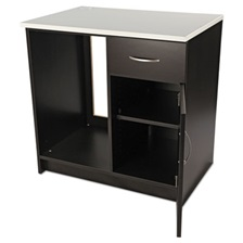 Alera Plus™ Hospitality Base Cabinet, One Door/Drawer, 36 x 24 x 36, Espresso/White
