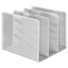 Artistic® Urban Collection Punched Metal File Sorter, Three Sections, 8 x 8 x 7 1/4, White