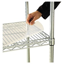Alera® Shelf Liners For Wire Shelving, Clear Plastic, 36w x 18d, 4/Pack